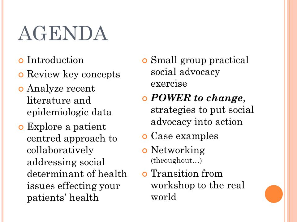 AGENDA Introduction Review key concepts
