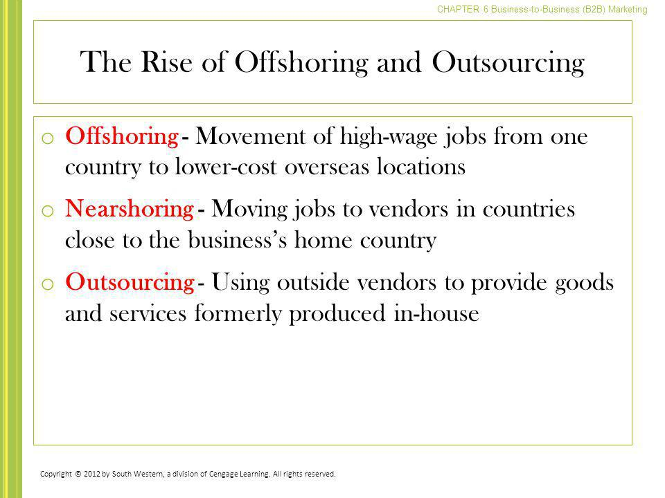 The Rise of Offshoring and Outsourcing