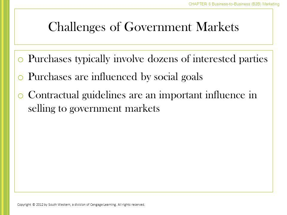 Challenges of Government Markets