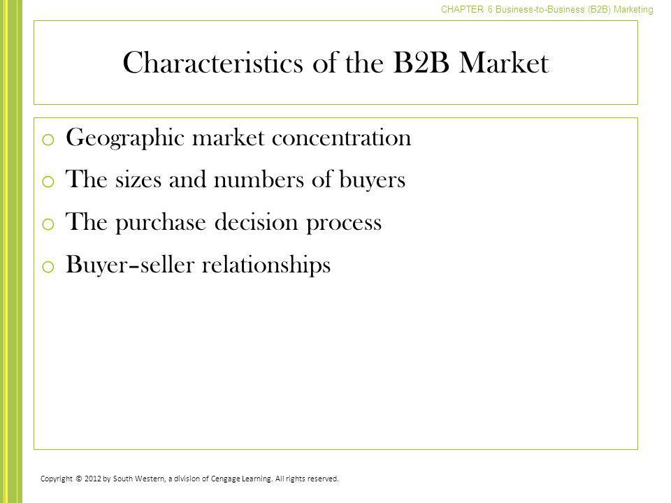 Characteristics of the B2B Market