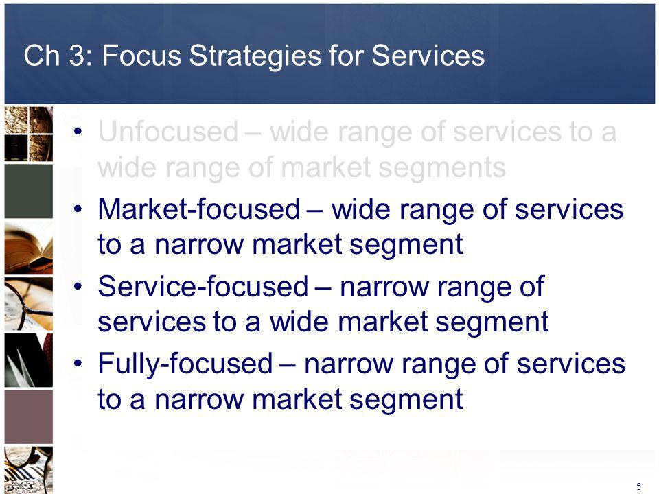 Ch 3: Focus Strategies for Services