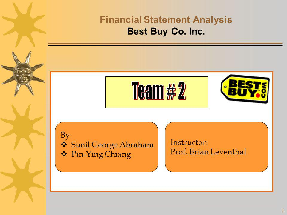 Financial Statement Analysis Best Buy Co. Inc.