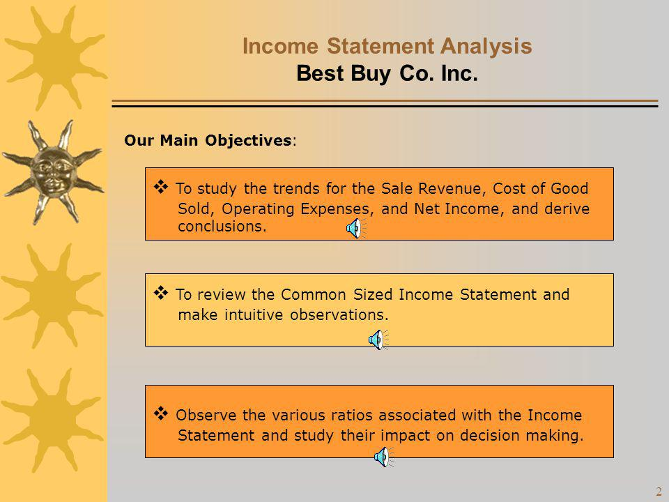 Income Statement Analysis Best Buy Co. Inc.