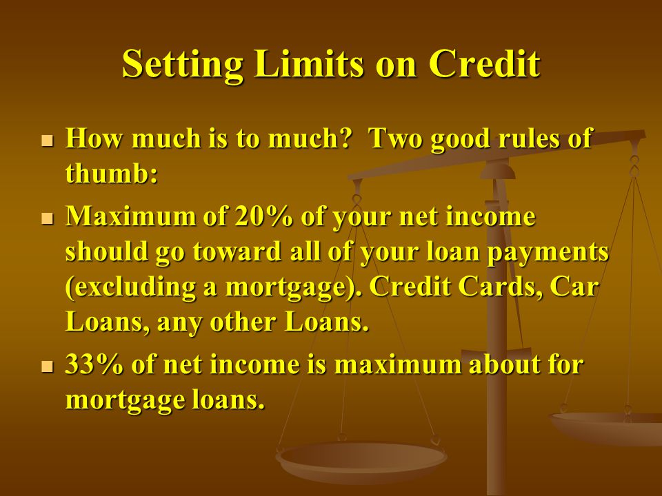 Setting Limits on Credit