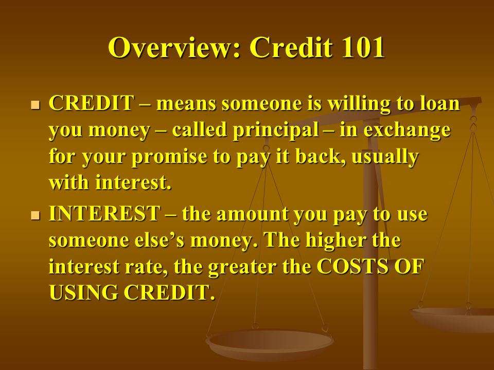Overview: Credit 101