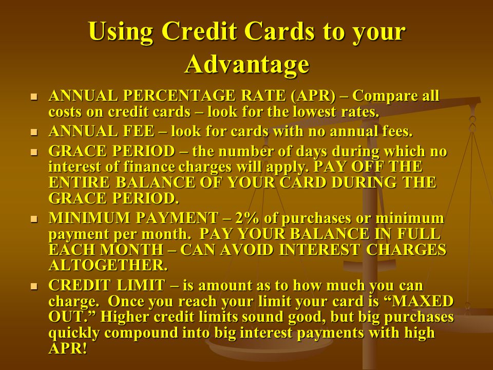 Using Credit Cards to your Advantage