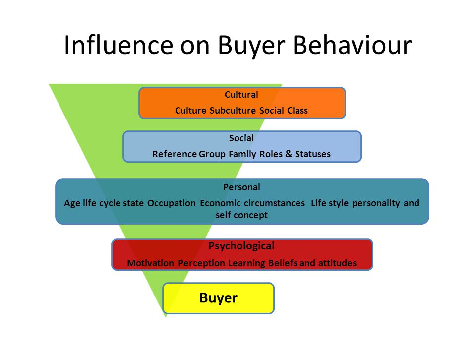 Influence on Buyer Behaviour