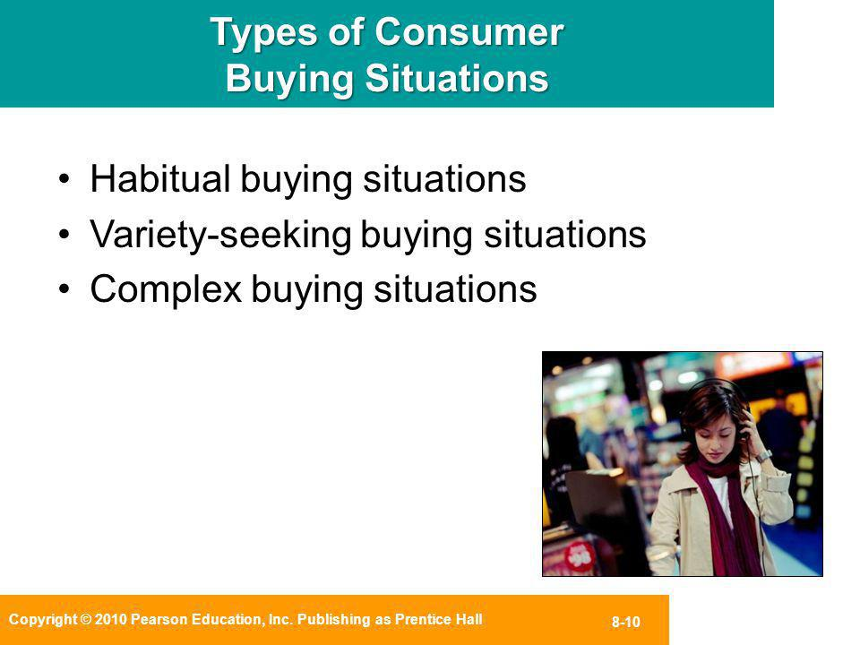 Types of Consumer Buying Situations