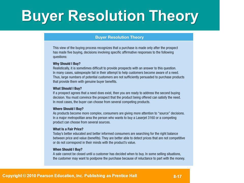 Buyer Resolution Theory