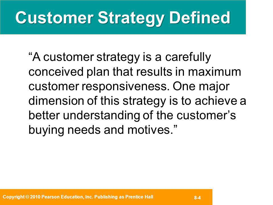 Customer Strategy Defined