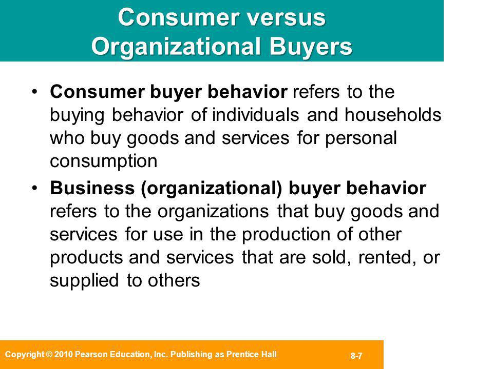 consumer and organisational buyer behaviour essay Consumer behaviour from a marketing perspective was discussed in chapter 2   decision-making processes that consumers could follow when purchasing a   reward the organisation selling the product or rendering the service by means of.