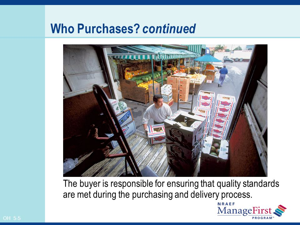Who Purchases continued