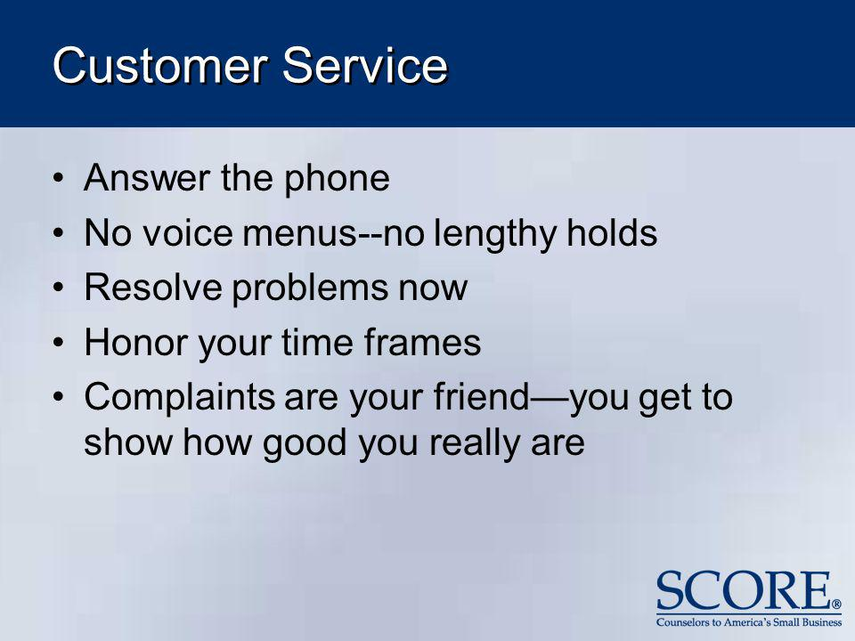 Customer Service Answer the phone