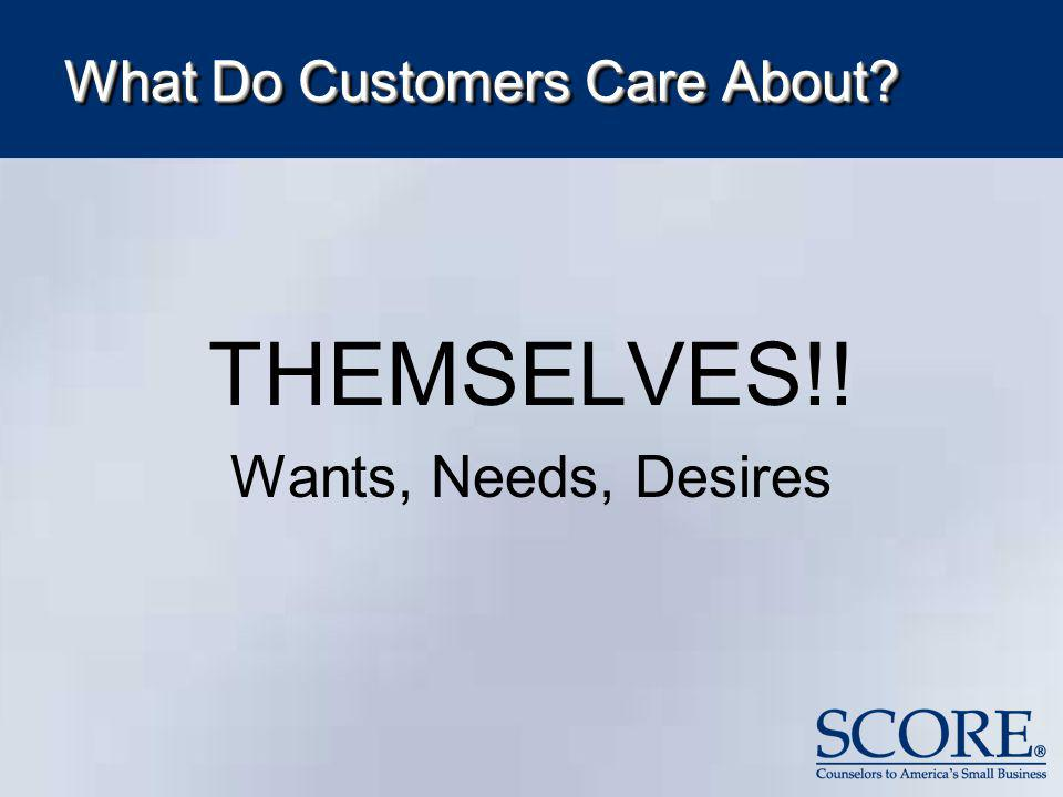 What Do Customers Care About