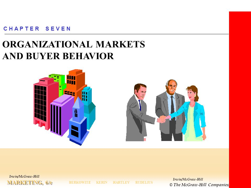 ORGANIZATIONAL MARKETS AND BUYER BEHAVIOR