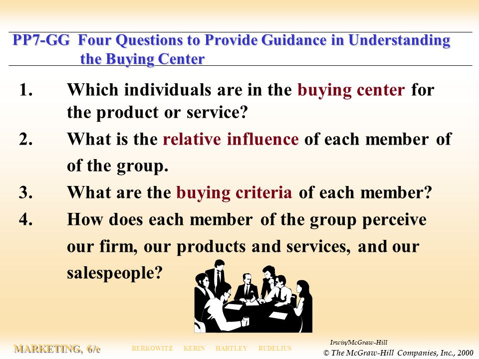 2. What is the relative influence of each member of of the group.