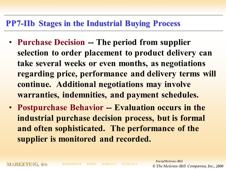PP7-IIb Stages in the Industrial Buying Process