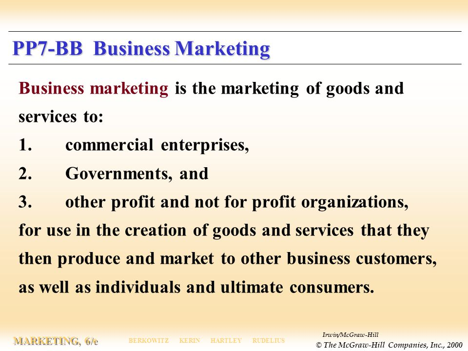 PP7-BB Business Marketing