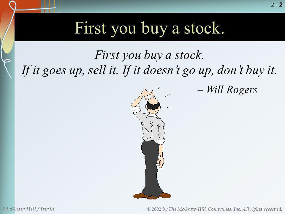 If it goes up, sell it. If it doesn't go up, don't buy it.
