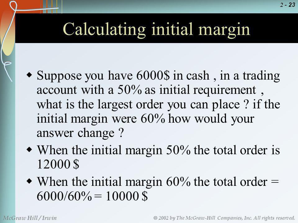 Calculating initial margin