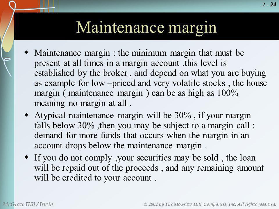 Maintenance margin