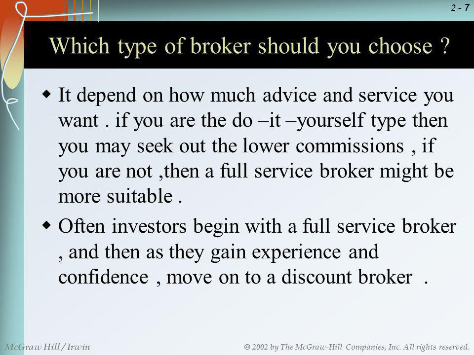 Which type of broker should you choose