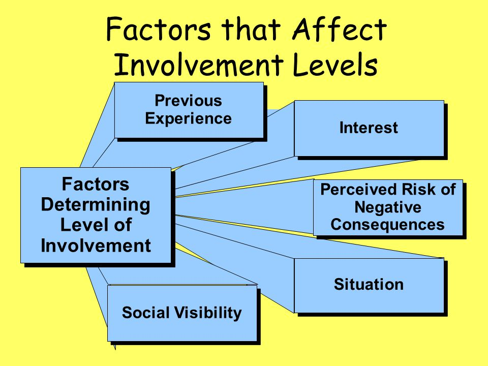 Factors that Affect Involvement Levels