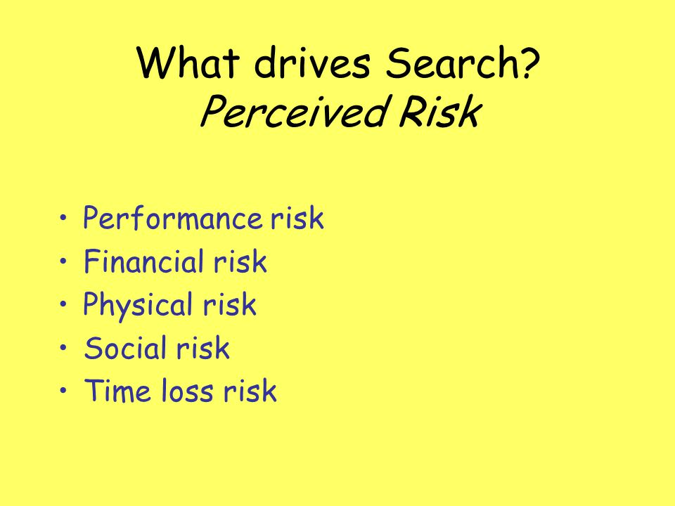 What drives Search Perceived Risk