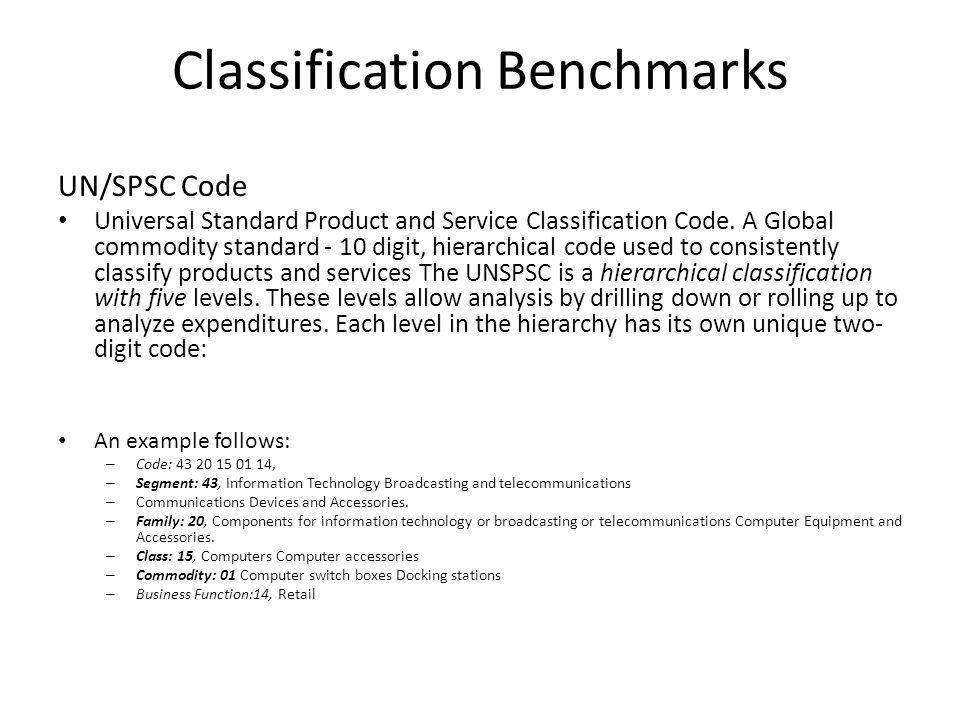 Classification Benchmarks