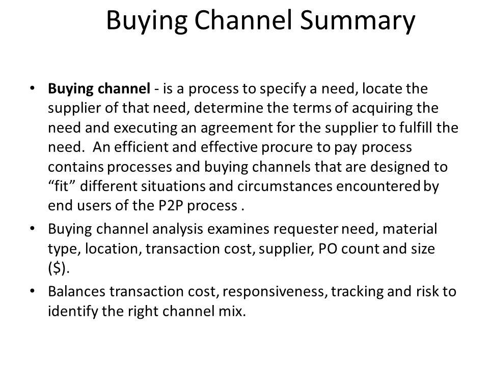 Buying Channel Summary