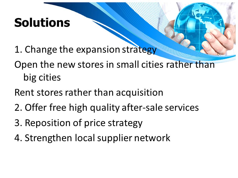 Solutions 1. Change the expansion strategy