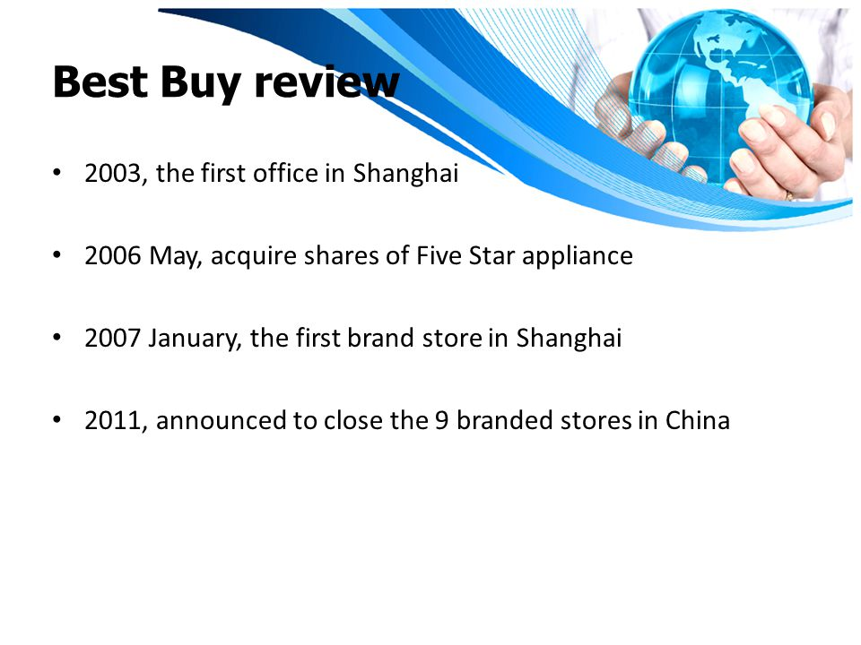 Best Buy review 2003, the first office in Shanghai