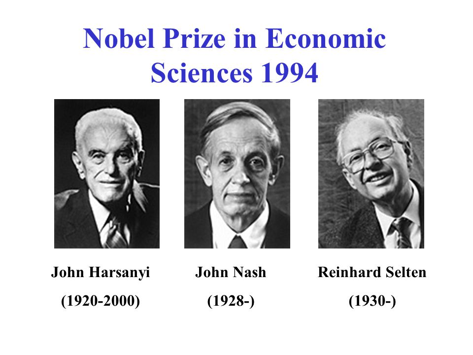 Nobel Prize in Economic Sciences 1994