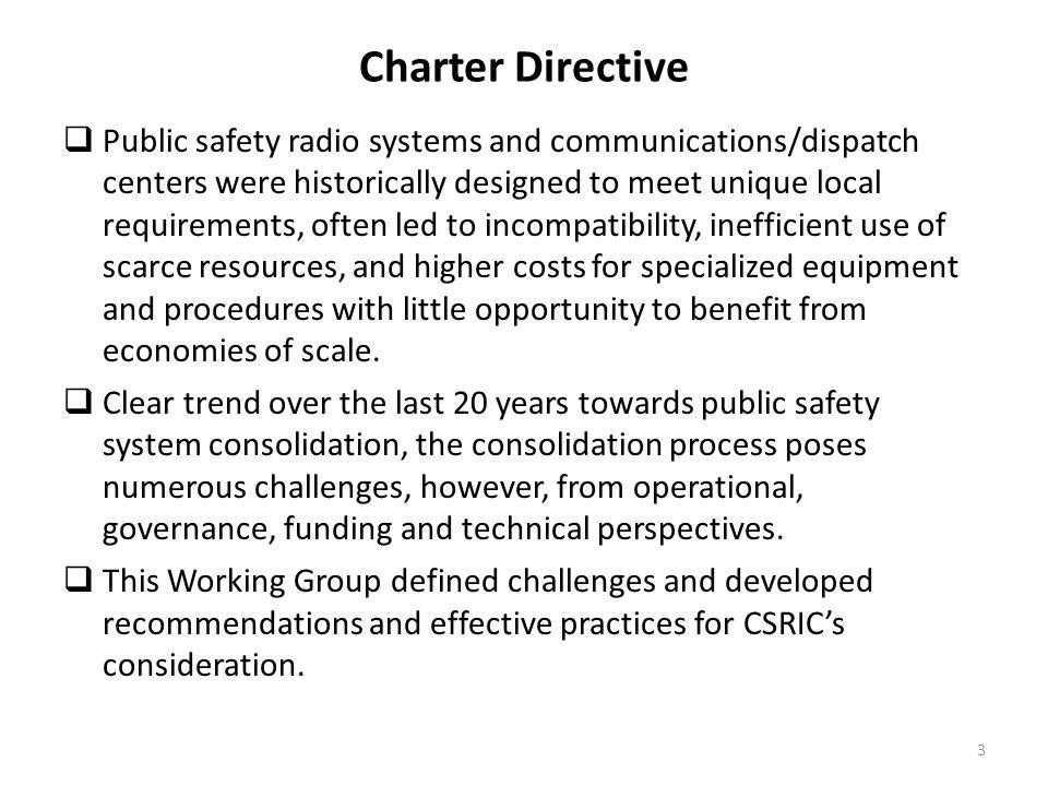 Charter Directive