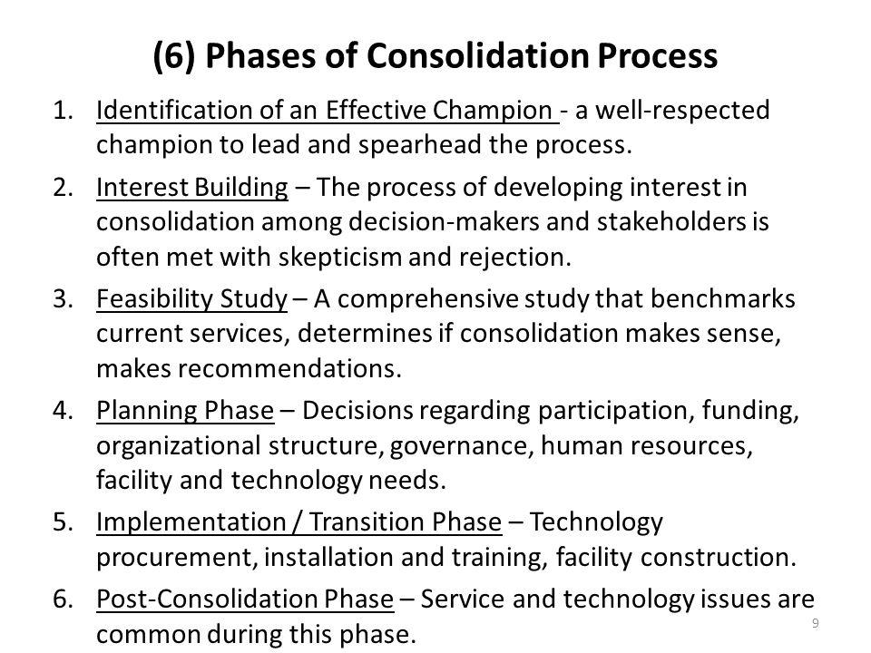 (6) Phases of Consolidation Process