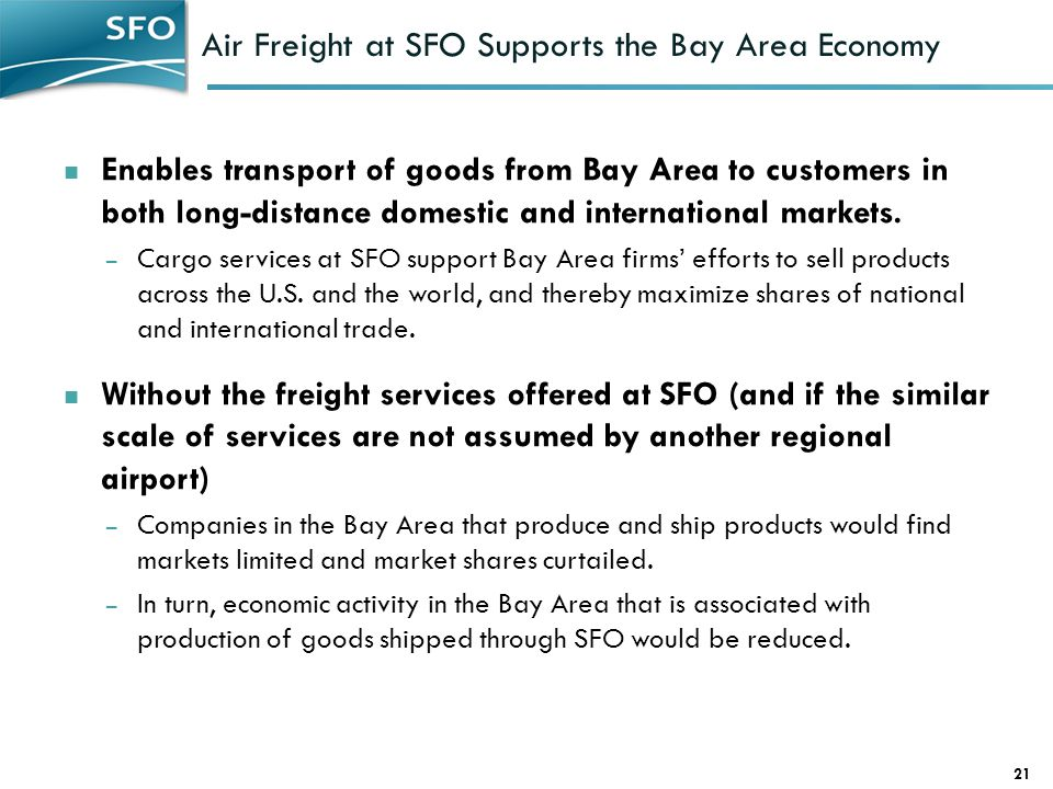 Air Freight at SFO Supports the Bay Area Economy