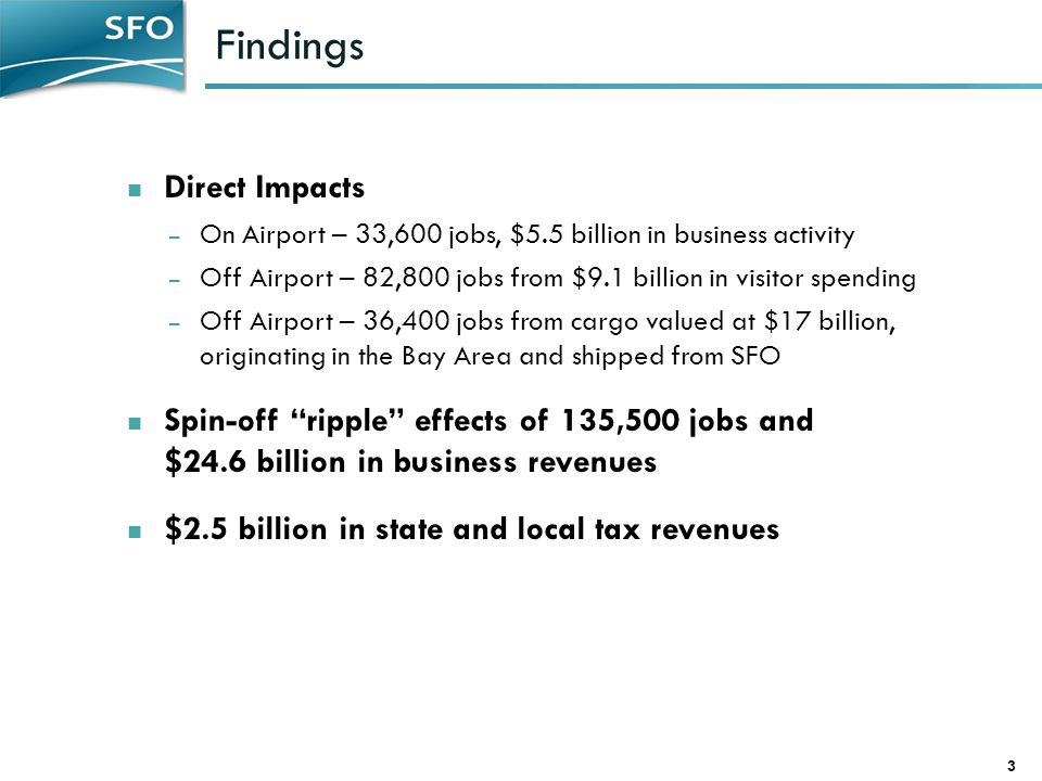 Findings Direct Impacts