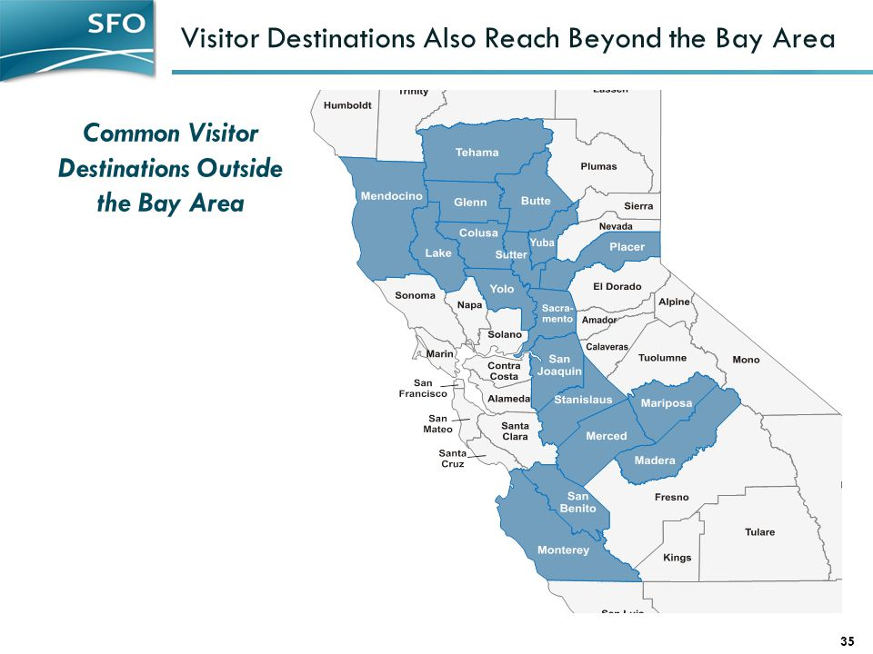 Visitor Destinations Also Reach Beyond the Bay Area