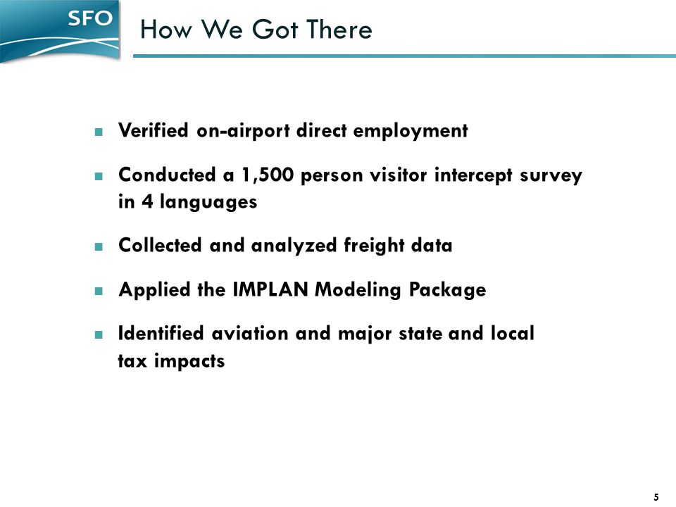 How We Got There Verified on-airport direct employment