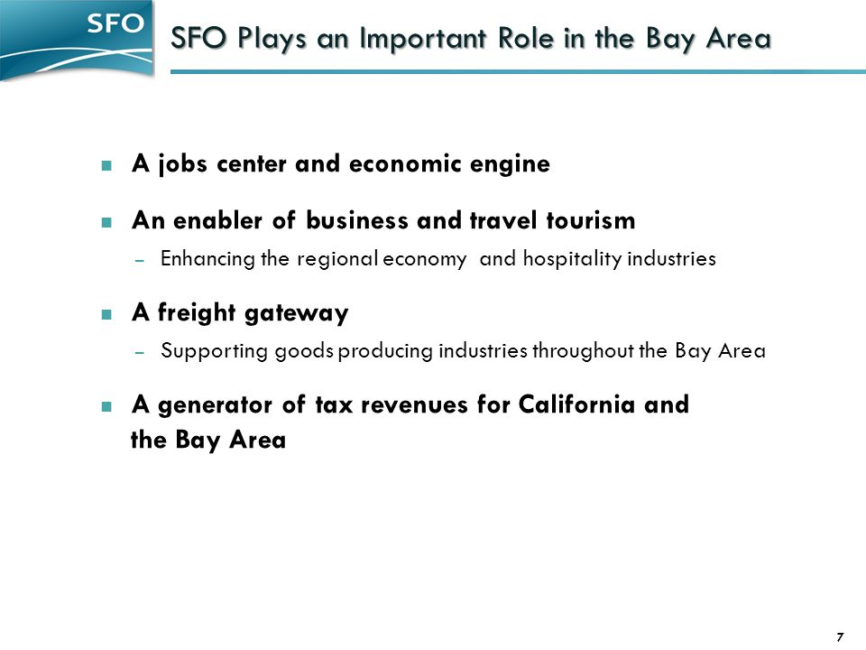 SFO Plays an Important Role in the Bay Area