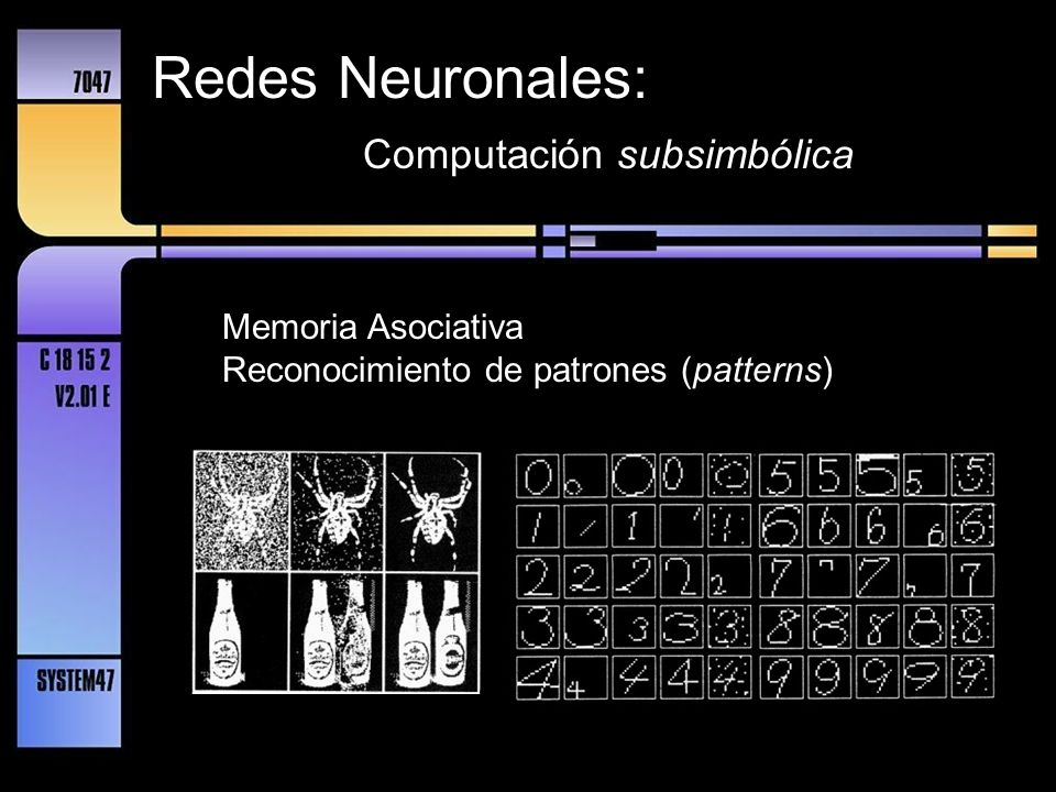 Redes Neuronales: Computación subsimbólica Memoria Asociativa