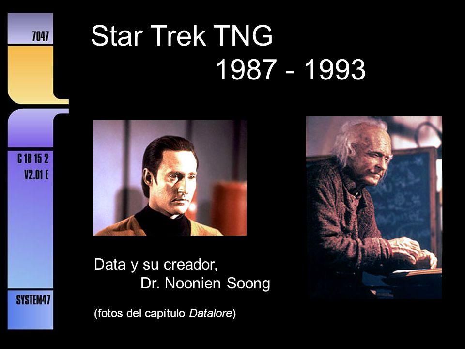 Star Trek TNG 1987 - 1993 Data y su creador, Dr. Noonien Soong
