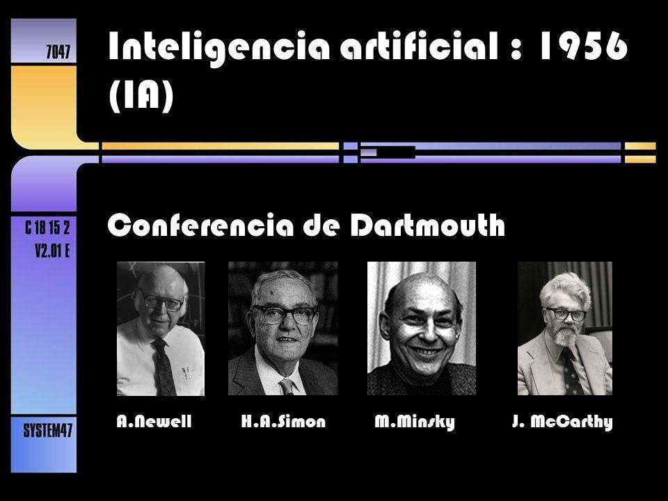 Inteligencia artificial : 1956 (IA)