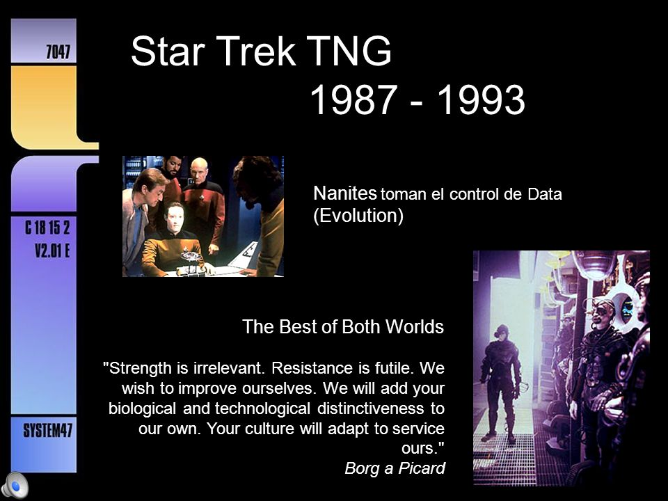 Star Trek TNG 1987 - 1993 Nanites toman el control de Data (Evolution)