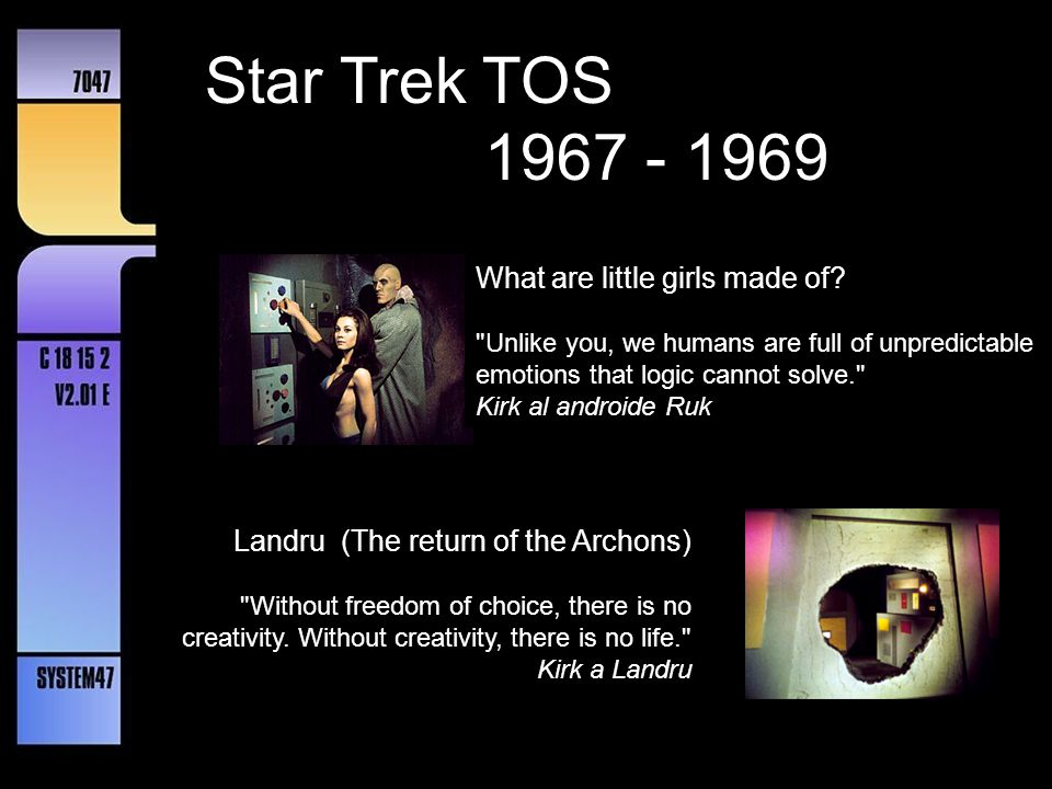 Star Trek TOS 1967 - 1969 What are little girls made of