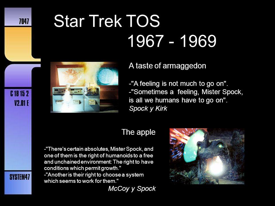 Star Trek TOS 1967 - 1969 A taste of armaggedon The apple