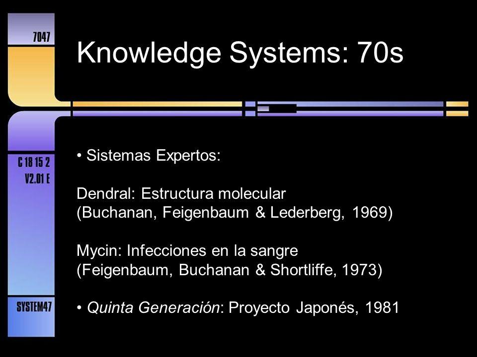 Knowledge Systems: 70s • Sistemas Expertos: