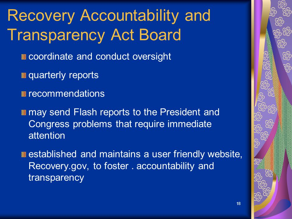 Recovery Accountability and Transparency Act Board