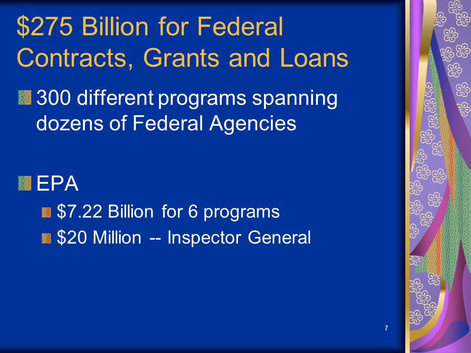 EPA's ARRA Funding $7.22 Billion