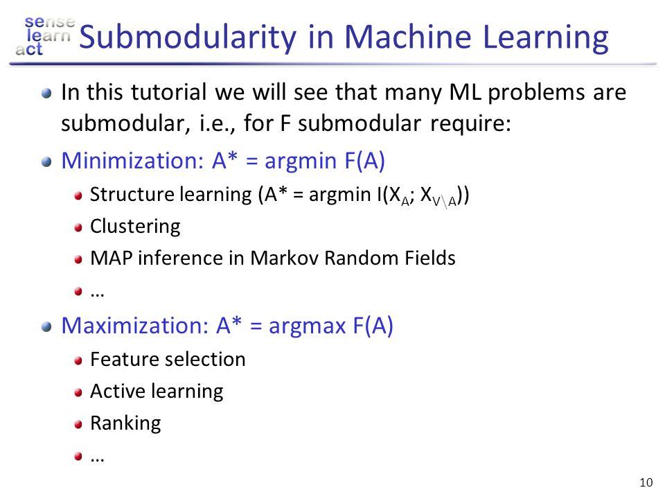 Submodularity in Machine Learning
